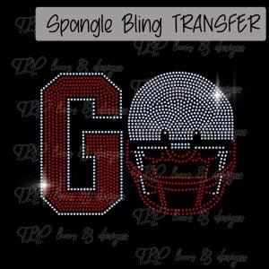 Go Football Helmet-Choice of Color -SPANGLE