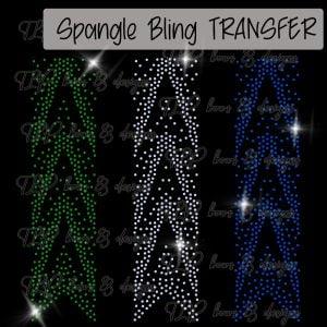 Cheer Bow Strip V Gradient Pattern-SPANGLE Transfer