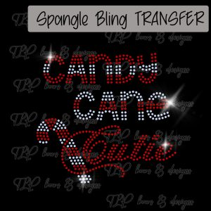 Candy Cane Cute -SPANGLE Youth sized