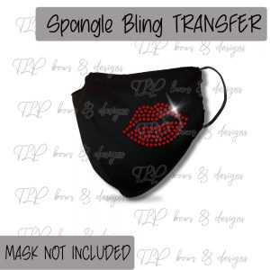 Lips FaceCover Transfer-SPANGLE