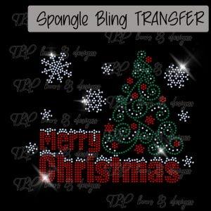 Merry Christmas with Tree-SPANGLE