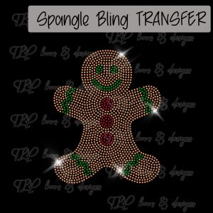 Gingerbread Man Transfer-SPANGLE