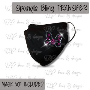 Butterfly Pink FaceCover Transfer-SPANGLE