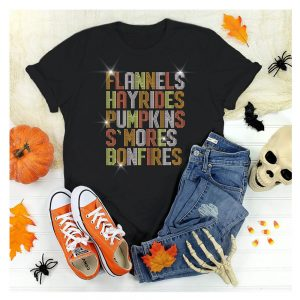 Flannels Hayrides Smores Sparkle Bling Tee