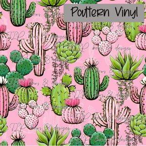 Cactus Pink Pattern Vinyl