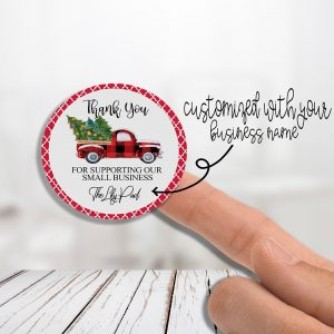 Christmas Truck Thank You With/Without Your Business Name