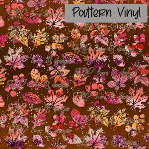 Fall Glitter Leaves-Pattern Vinyl