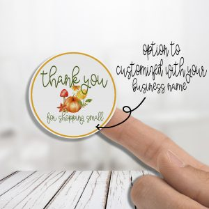 Fall Pumpkin Thank You With/Without Your Business Name