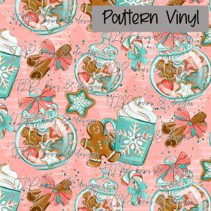 Gingerbread Cookie Jar Pattern Vinyl