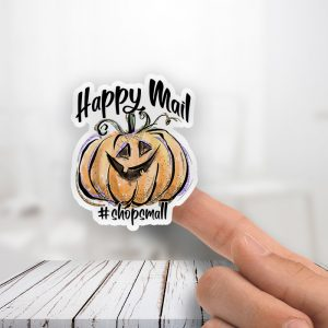 Happy Mail Pumpkin Stickers