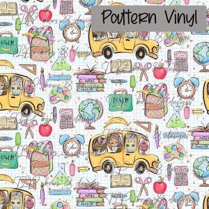 School Bus Globe Pattern Vinyl