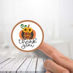 Thank you Fall pumpkin Stickers