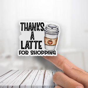 Thanks A Latte Thank You Stickers