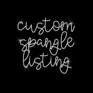 Custom Spangle Bling Mask for Cheryl P