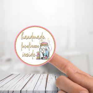 Handmade Loveliness Thank You Stickers