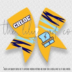 Custom Cheer Hair Bow-Marquita