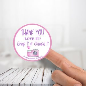 Thank You Love It Snap It Stickers