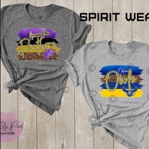 Brush Stroke Cheetah Spirit Tee -Choose Your School
