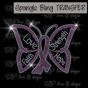 Faith Hope Awareness Butterfly-SPANGLE-Choice Color