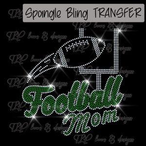 Football Mom and Goal -SPANGLE