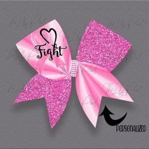 Fight Awareness Glitter Cheer Hair Bow