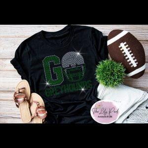 Go Greyhounds – Football Bling Tee