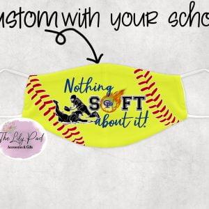 Softball Face Coverings School Custom available