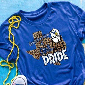 Cheetah Texas Small Town Vibes Owls Pride Tee