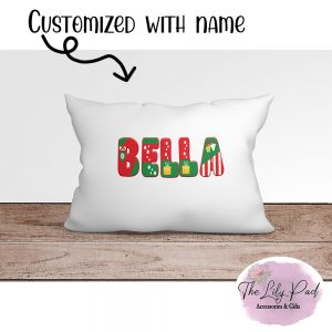 Holiday Letter Personalized Pillowcase