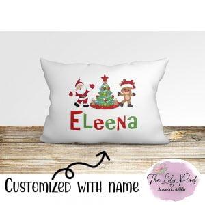 Rocking around Tree Personalized Pillowcase