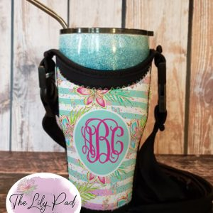 Tumbler Totes with Personalization-Summer Floral