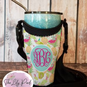 Tumbler Totes with Personalization-Summer Fruit Fun