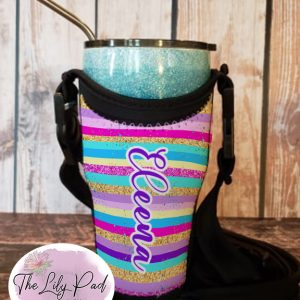 Tumbler Totes with Personalization-Funky Striped