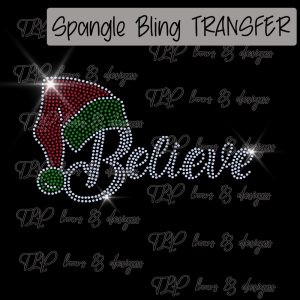 Believe Santa Hat-Youth Only-SPANGLE