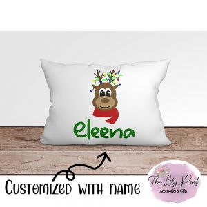 Reindeer with Lights Personalized Pillowcase