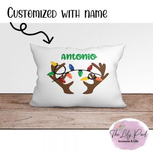 Reindeer Antlers Personalized Pillowcase