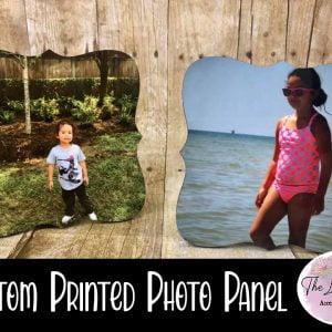 Custom Printed Prague Shaped Photo Panel with Stand