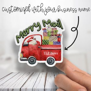 Merry Mail Truck Stickers