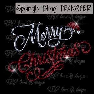 Merry Christmas Cursive-SPANGLE