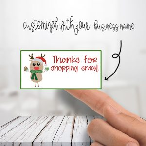 Thank You Reindeer Christmas Stickers
