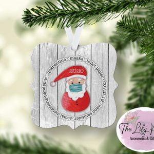 Santa Masked 2020 Ornament