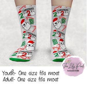Candycane Toilet Paper 2020 Christmas Crew Socks