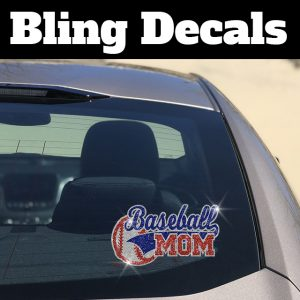 Sport of Choice Mom Bling Decal-Choose your Colors