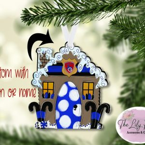 Gingerbread Christmas PoliceStation Ornament Personalized