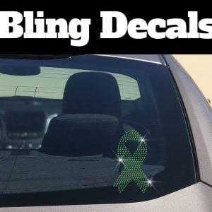 Green Awareness Bling Decal