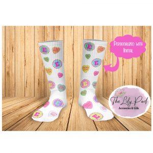 Valentine Conversation Personalized Socks