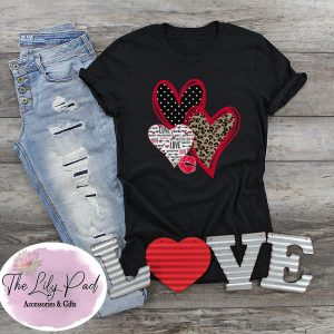 Valentine Trio Heart Graphic Tee
