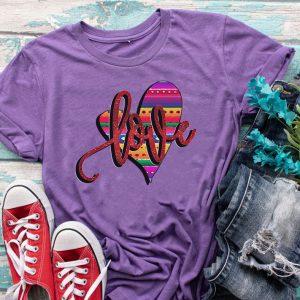 Love Serape Heart Graphic Tee