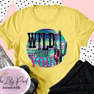 Wild about You Funky Cactus Leopard Graphic Yellow Tee