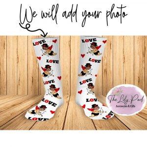 Cupid Love Valentine Face Socks